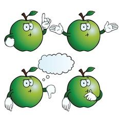 Thinking apple set vector image