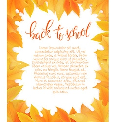 Back to school blank surround with autumn leaves vector