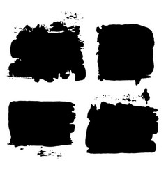brush strokes set 014 vector image