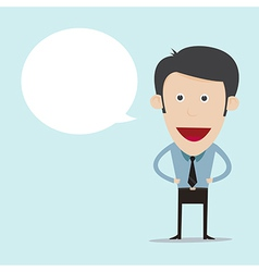 cartoon with blank bubble vector image vector image