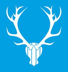 deer antler icon white vector image