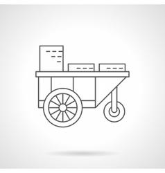 Drinks wheel shop flat thin line icon vector image vector image