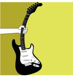hand and an electric guitar vector image