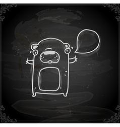Hand Drawn Talking Bear vector image
