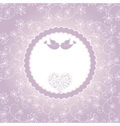 lovebirds greeting card vector image