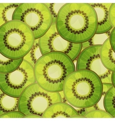 Seamless kiwi fruit pattern Cartoon vector image vector image