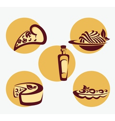 traditional Italian menu vector image vector image