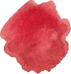 Watercolor marsala color spot vector image vector image