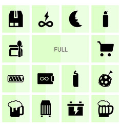 14 full icons vector