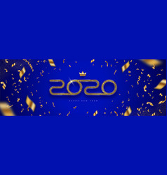 2020 new year logo -greeting design with confetti vector