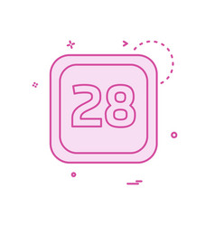 28 date calender icon design vector image