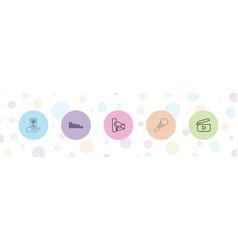 5 audio icons vector