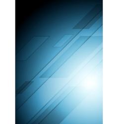 Abstract dark blue tech background vector