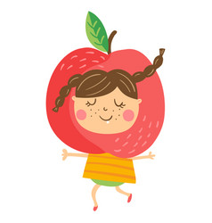 Apple girl vector
