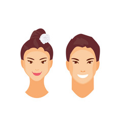 asian people vector image