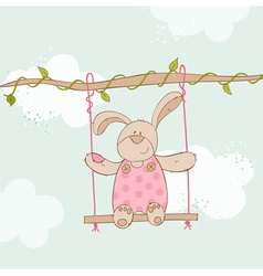 Baby shower card - with bunny vector