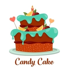 Bakery or pastry cake logo candy pie icon vector image