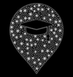 bright mesh network education marker with flare vector image