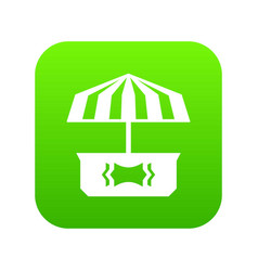 business stall icon green vector image