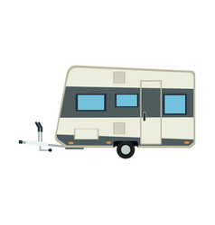camper trailer vacation travel outdoor image vector image