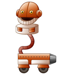 cartoon robot character isolated on white backgrou vector image