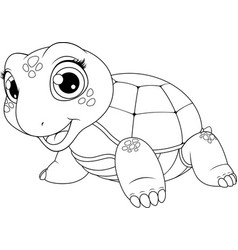 cheerful child turtle vector image