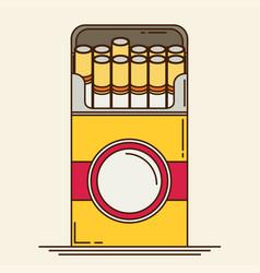 cigarette flat vector image