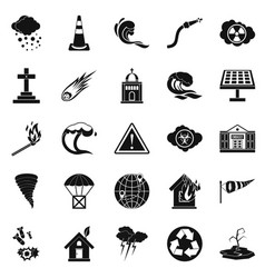 Complaint icons set simple style vector