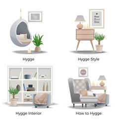 Danish hygge style concept vector