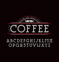 decorative slab serif font vector image