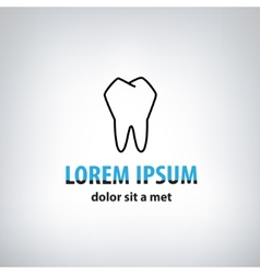Dental Medicine logo design template vector