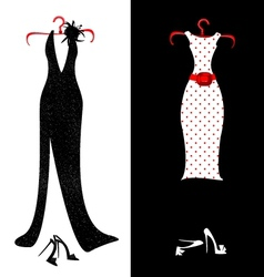 Dresses and shoes vector