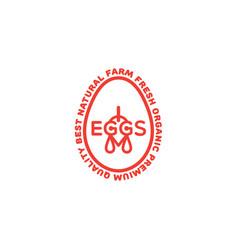 Eggs logo vector
