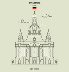 frauenkirche in dresden vector image