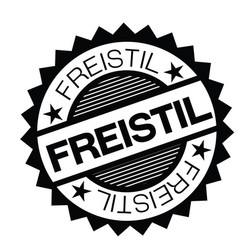 Freestyle stamp in german vector