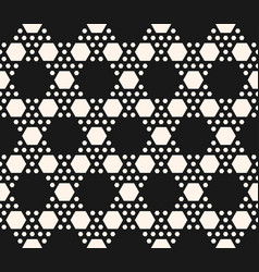 geometric seamless pattern with hexagonal grid vector image
