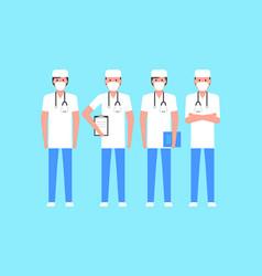 Group doctors vector