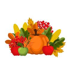 happy thanksgiving celebration design cartoon vector image