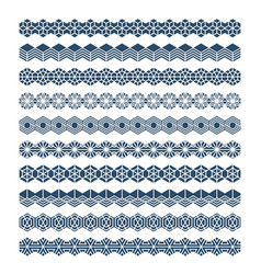 hexagon geometric pattern brush ornament vector image