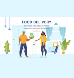 home food delivery online ordering service webpage vector image