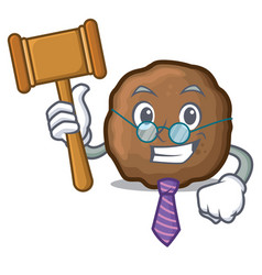Judge meatball mascot cartoon style vector