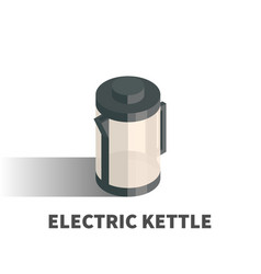 kettle icon symbol vector image