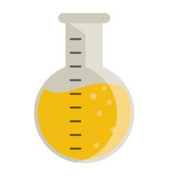Laboratory flask glass liquid vector