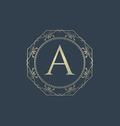 letter a luxury logo vector image