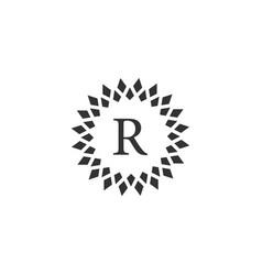 luxury letter r logo design vector image