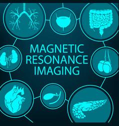 Magnetic resonance imaging mri medical diagnostic vector