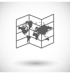 Map icon vector