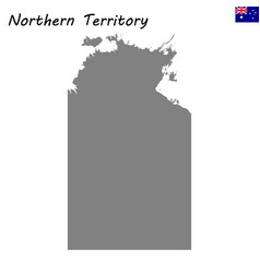 map of northern teritory is a state of australia vector image