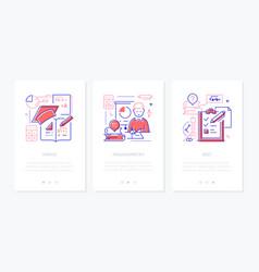 mathematics - line design style web banners vector image