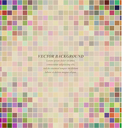 Multicolored abstract square pattern background vector image